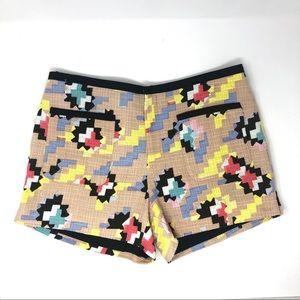 Rachel Roy Tweed Geo Print Patch Pocket Shorts US4